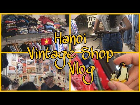 Viet Sub] 베트남 하노이 빈티지 쇼핑, Hanoi Vietnam Vintage Shopping, Hanoi Pizza,