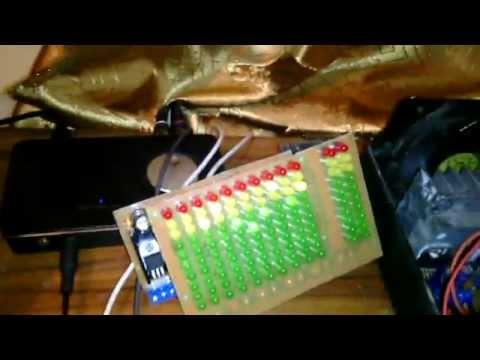 Самодельный анализатор спектра - AVR ATMega8 + LM3915/LM3914