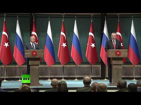 Putin & Erdogan speak after meeting in Ankara (Streamed live)