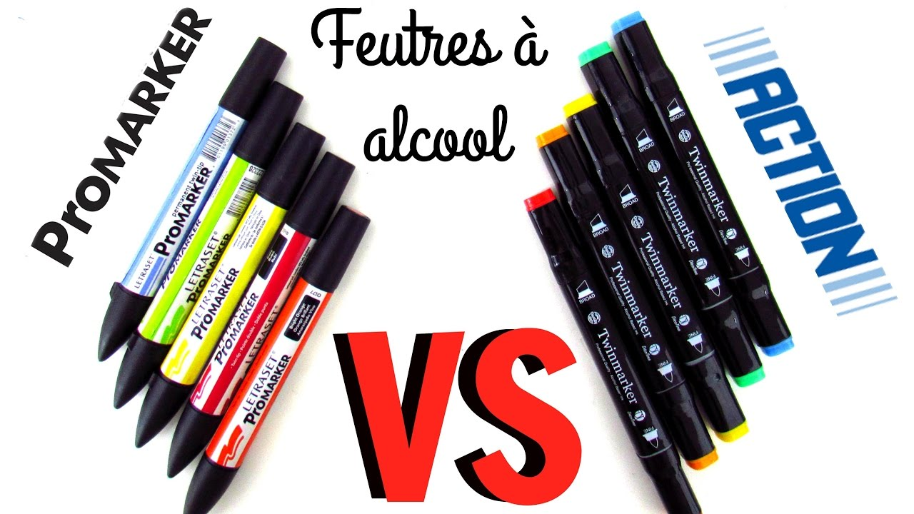 Promarker Vs Feutres Alcool Action Dupe De Promarker Youtube