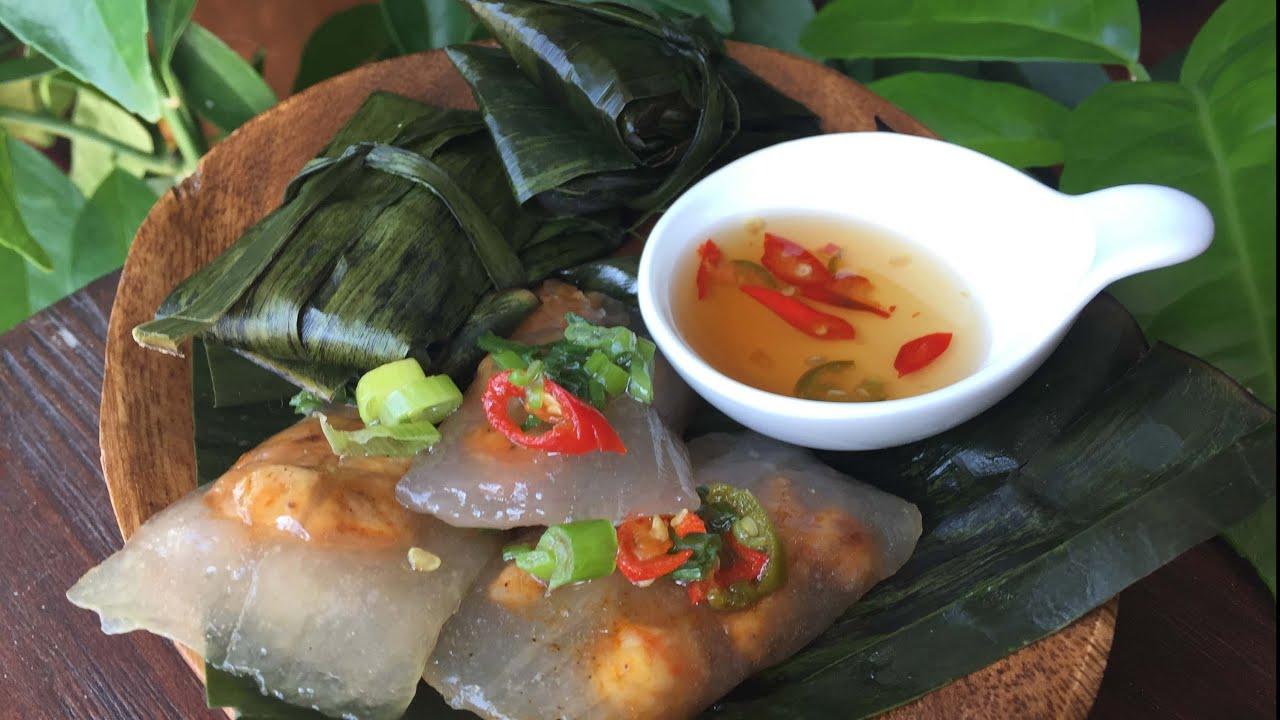 Jn Banh Bot Loc Vietnamese Tapioca Shrimp And Pork Dumplings In Banana Leaves Youtube