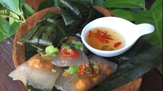 Jn Banh Bot Loc  Vietnamese Tapioca Shrimp And Pork Dumplings In Banana Leaves