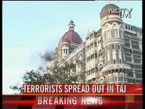 Indian TV footage of coordinated attacks on Mumbai
