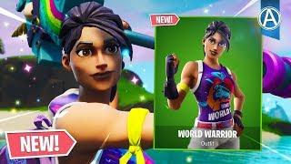 NOVO mundo guerreiro SKIN gameplay! (Copa do mundo de Fortnite 2019)