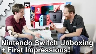 Nintendo Switch Unboxing + Initial Impressions!
