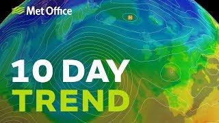 10 Day trend – A battleground next week; its cold & dry very mild & wet 21/11/18