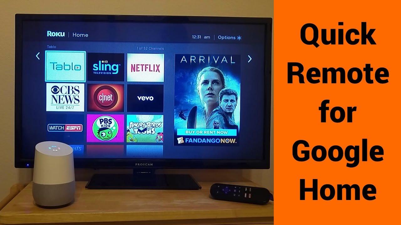 Quick Remote for Google Home/Assistant & Roku