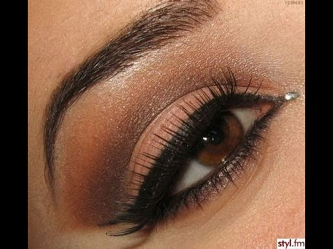 Dark brown eyes makeup