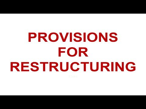 Module 4, V4 - Provision for Restructuring