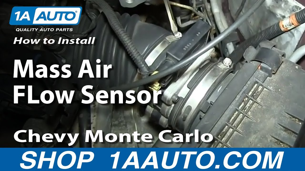 How To Install Replace Mass Air Flow Sensor 3 4l Chevy Monte Carlo Youtube