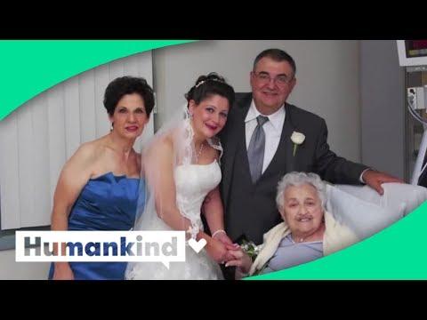 Bride brings wedding to grandma in the hospital