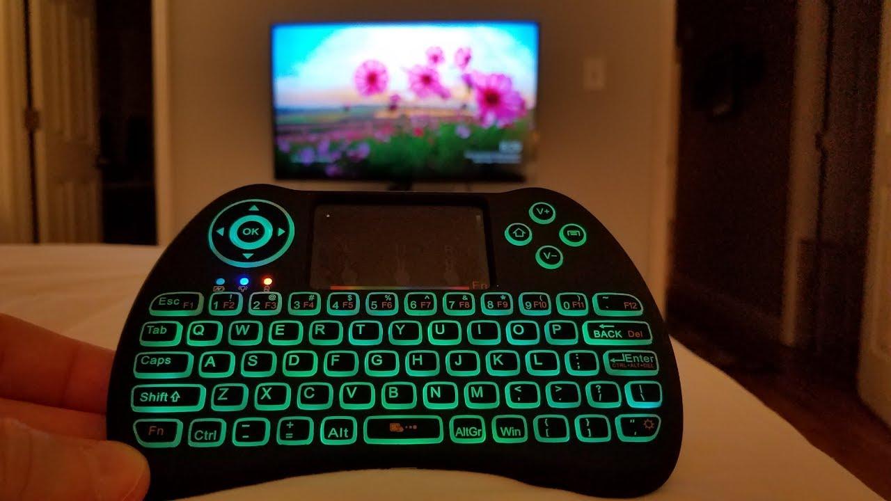 Aerb 2 4GHz Colorful Backlit Mini Wireless Keyboard Remote