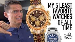 My 5 Least Favorite Watches Of All Time From Rolex, Patek, Audemars Piguet, MVMT & Tiret