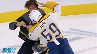 Mark Stone and Roman Josi get into a quick fight, a breakdown