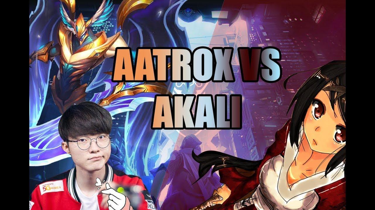 Faker Mid Lane Aatrox | Faker Aatrox vs Akali | Faker Aatrox 7/1/8
