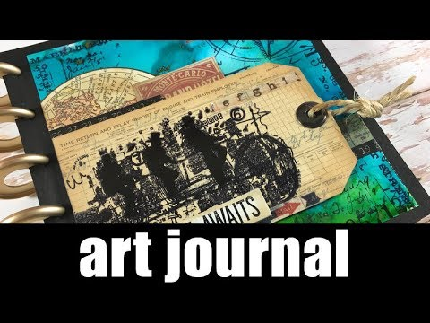 Art Journal | alcohol inks and layers
