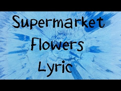 Supermarket Flowers - Ed Sheeran Lyric