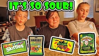 SOUR CANDY CHALLENGE!
