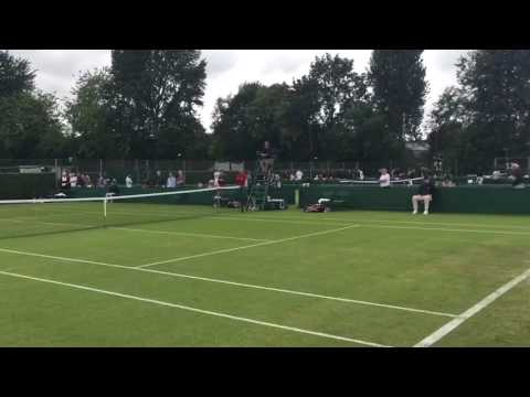Wimbledon 2016: il match point di Marius Copil su Kenny De Schepper (7-5 6-4)