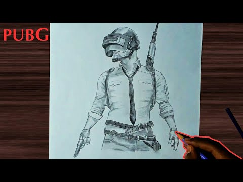 Drawing Pubg Mobile Game Theme Arts Of Sho Youtube