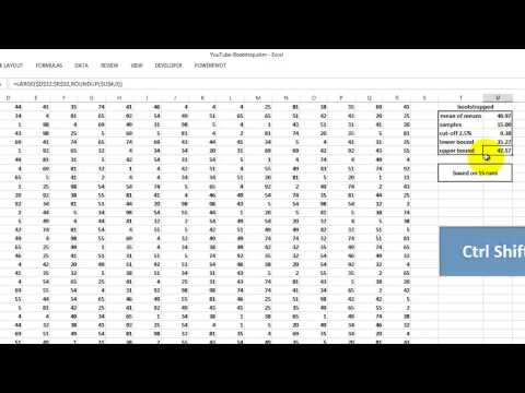 Bootstrapping with Excel and VBA