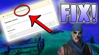 How to Change Fortnite Display Name WITHOUT Verified Email!!