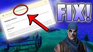 Comment changer le nom d'affichage Fortnite sans e-mail vérifié!
