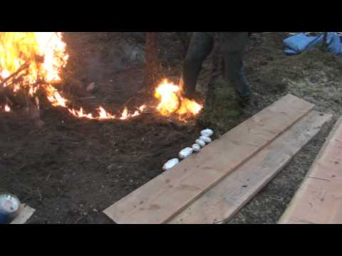 Fast way to make a fire in Alaska