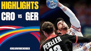 Croatia vs Germany Highlights Day 10 Men s EHF EURO 2020