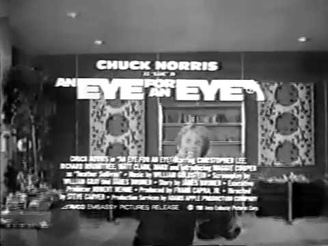 An Eye for an Eye 1981 TV trailer in B & W