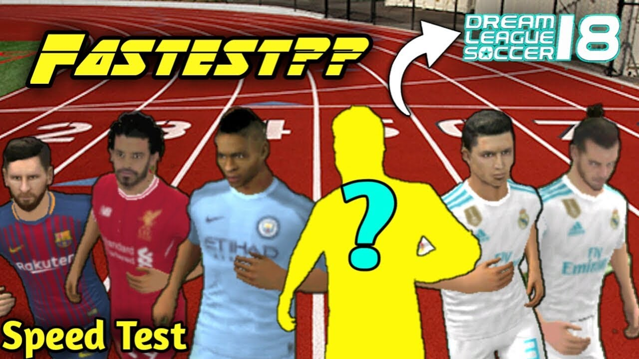 Fastest Player in Dream League Soccer 2018 • Speed Test #dls20 by Major  Dominates