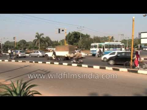 Busy traffic in Chandigarh city - India