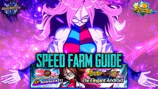 Android 21 (Base) SPEED FARM Event Guide! How to Max Boost Quick! The Elegant Android - DB Legends