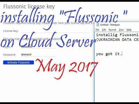 Installing Flussonic  on VPS Cloud Server