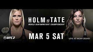 UFC Холли Холм vs Миша Тейт (Смоделированный бой)