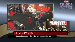 Justin Woods Previews Characters for Avengers Alliance on Marvel LIVE! at San Diego Comic-Con 2015