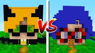 CASA DA LADYBUG VS CASA DO CAT NOIR! - Minecraft Casa vs Casa