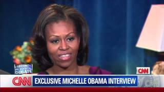 Cnn's jessica yellin interviews first lady michelle obama about pres. obama's ego going into the debate.watch all of debates live at cnn.com/debatesfor m...