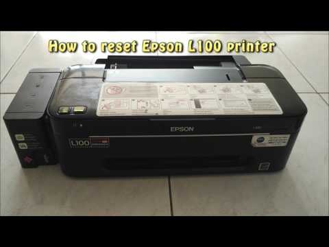 Reset Epson L100 Waste Ink Pad Counter