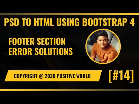 PSD To HTML Error Solutions Full Website| Footer Section | Responsive Website [#14]