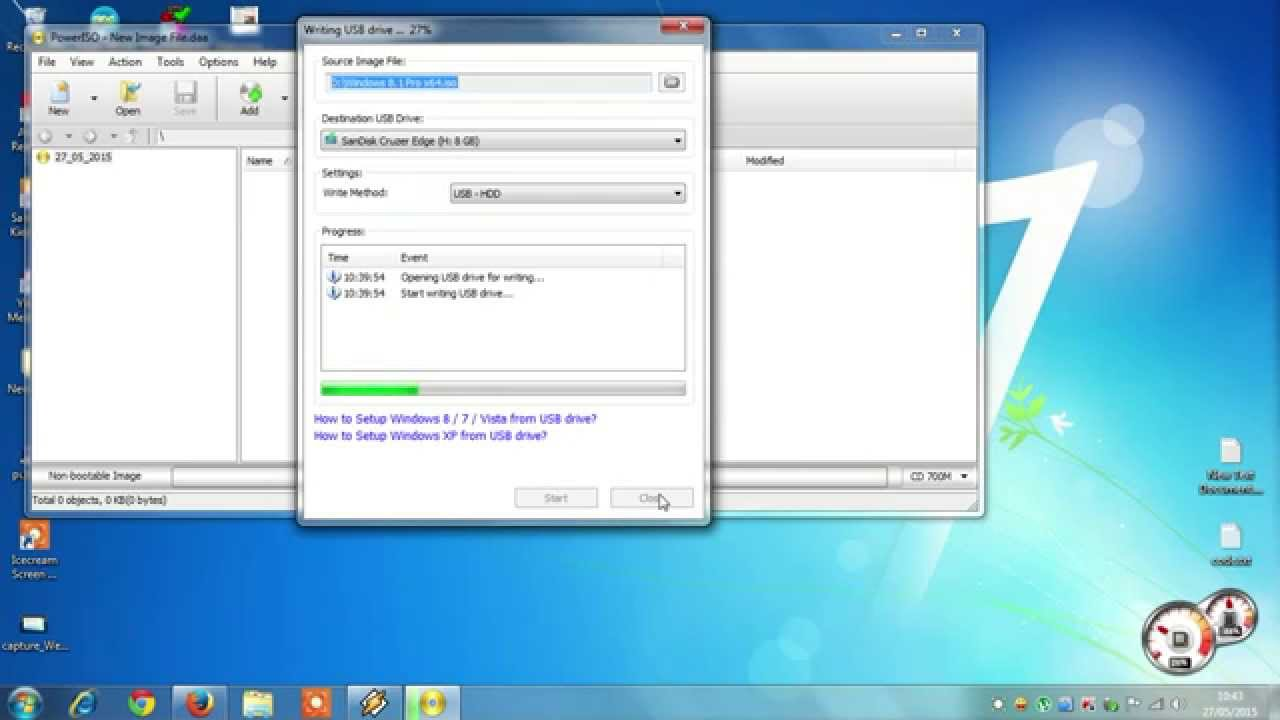 how to make bootable usb windows 7 using poweriso