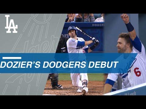 Dozier's Dodgers debut