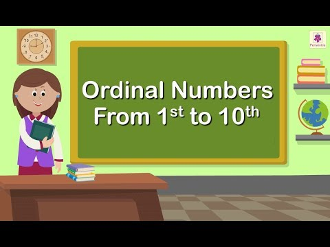 Ordinal Numbers From 1st to 10th | Maths Concept For Kids | Grade 1 | Periwinkle