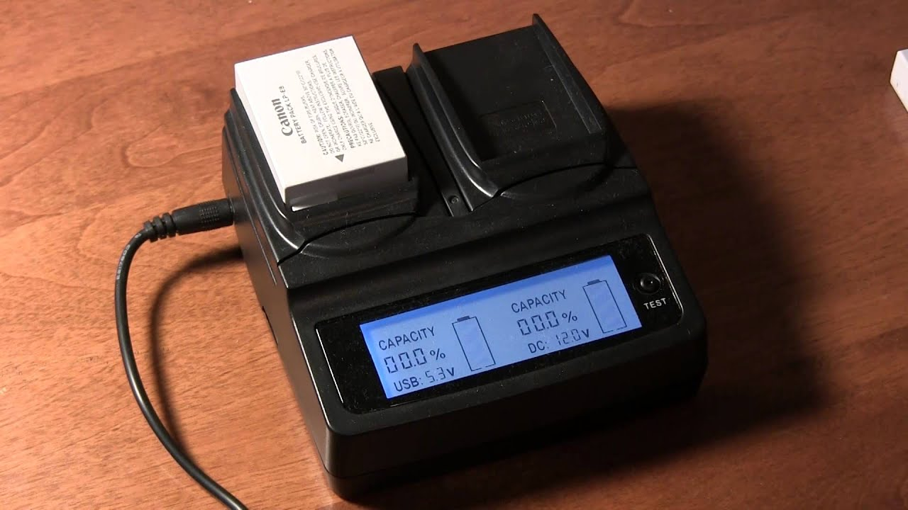 xtg dual battery charger for canon lp e8 youtube. Black Bedroom Furniture Sets. Home Design Ideas