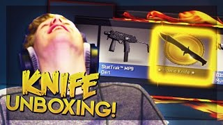 BOWIE KNIFE SLAUGHTER UNBOXING?!   CS:GO Jackpot Knife Unboxing
