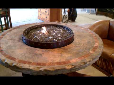 Wine Barrel Fire Table Travertine - Wine Barrel Fire Table Travertine - YouTube