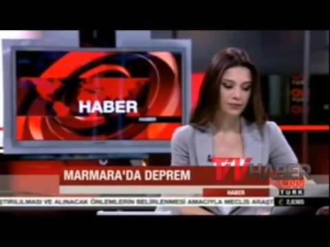 CNNTürk Spikeri Depreme Canlı Yayında Yakalandı  24 Maıys 2014