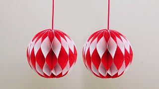 Hiasan 17 Agustus Dari Kertas - Dekorasi Hari Kemerdekaan RI - lampion Honeycomb Merah Putih