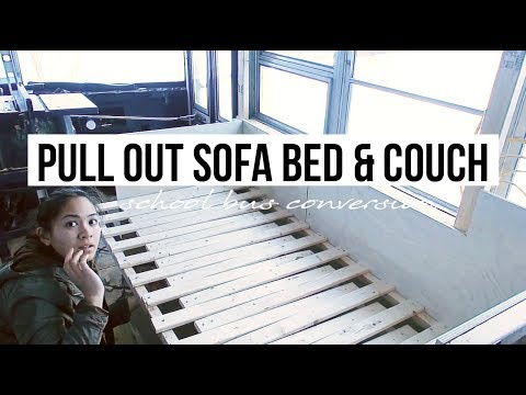 Pull Out Couch | Tiny Home Sofa Bed | School Bus Conversion | Off Grid Tiny House