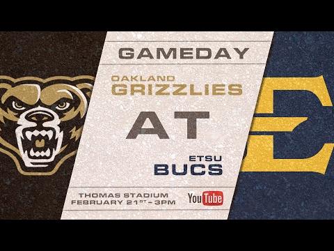 ETSU Baseball vs Oakland University 2/21/2017